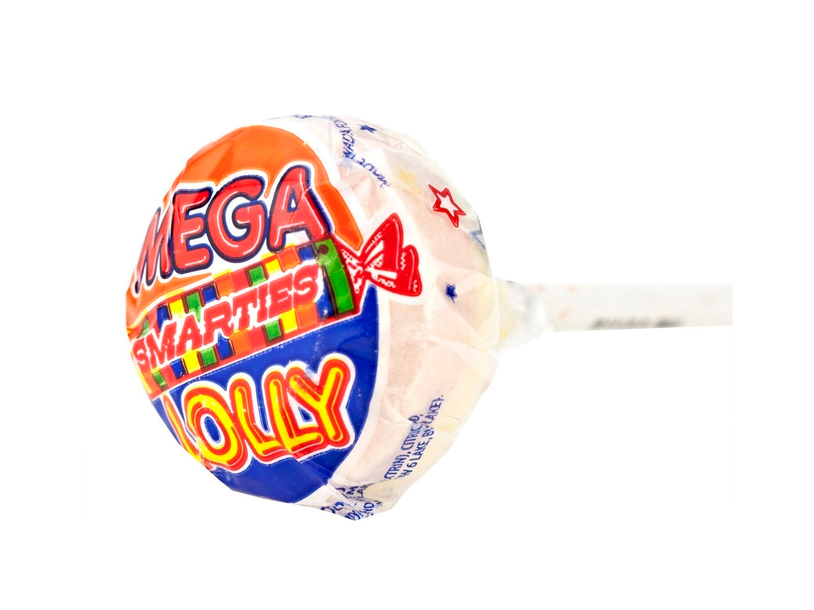 Pack of 6, Smarties Mega Lolly, 1.1oz