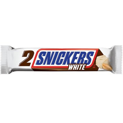 Snickers 2x White Chocolate Candy Bar, Single, 2.84oz