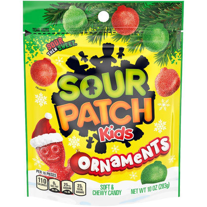 Sour Patch Kids Ornaments Holiday Candy, 10oz