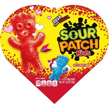 Sour Patch Kids Valentine's Candy Heart - 6.8oz