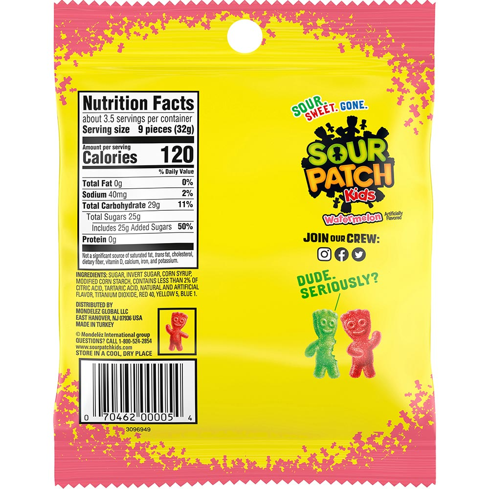 Sour Patch Watermelon Soft & Chewy Candy, 4oz