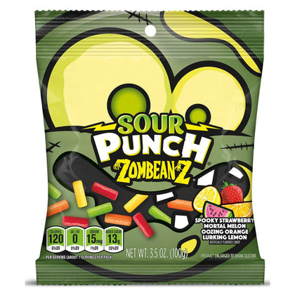 Sour Punch Zombeanz Candy Coated Halloween Bites, 3.5oz
