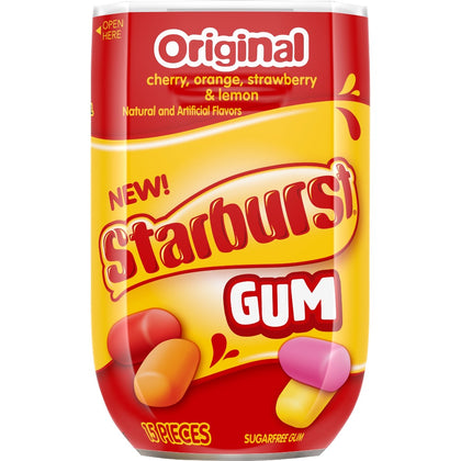 Starburst Original Gum, 15-Pieces Bottle