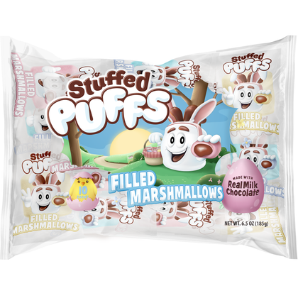 Stuffed Puffs Milk Chocolate Filled Marshmallows, 10ct/6.3oz