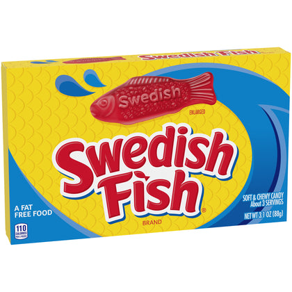 Swedish Fish Soft and Chewy Candy, 3.1oz