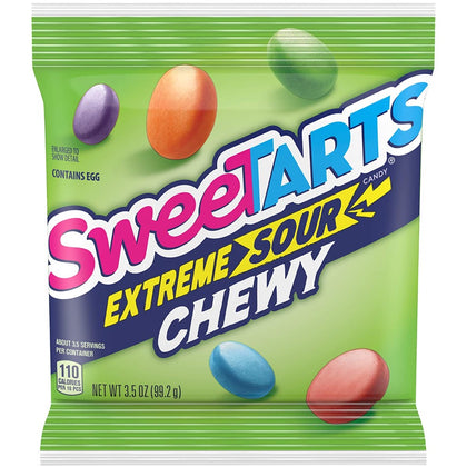Sweetarts Extreme Sour Chewy Candy, 3.5oz Bag
