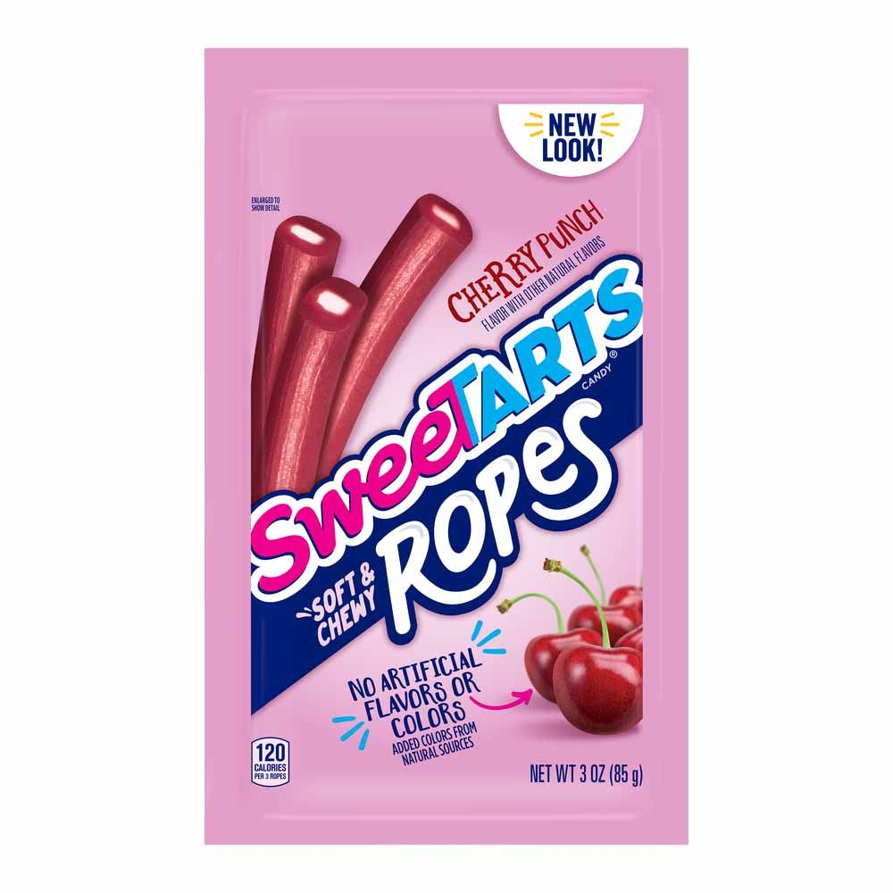 Sweetarts Soft & Chewy Ropes, Cherry Punch, 3oz