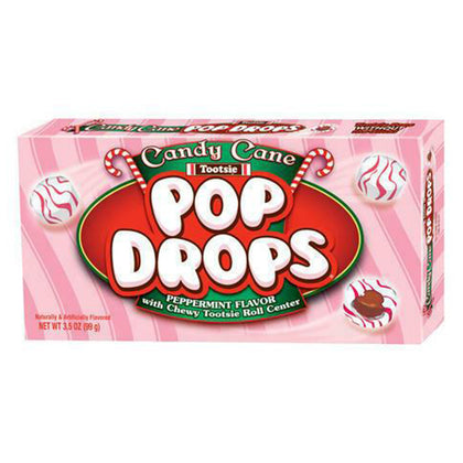 Tootsie Candy Cane Pop Drops, 3.5 oz Theater Box