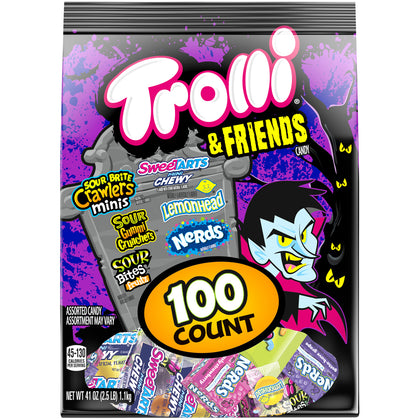 Trolli & Friends Halloween Candy Variety Pack, 100ct, 41oz