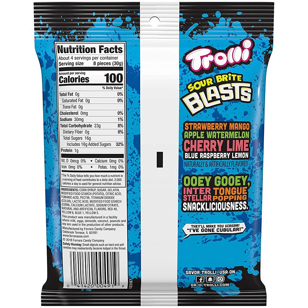 Trolli Sour Brite Blasts Gummy Candy, 4.25oz