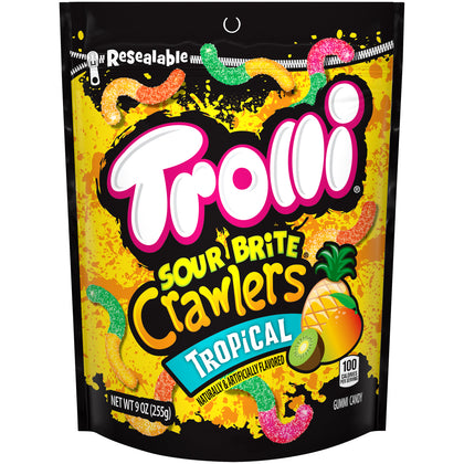 Trolli Sour Brite Crawlers Tropical, 9oz