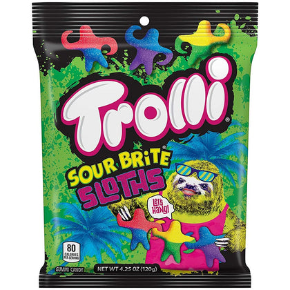 Trolli Sour Brite Sloths, 4.25oz
