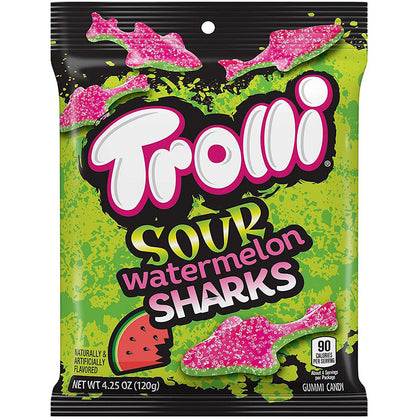Trolli Sour Watermelon Sharks, 4.25oz