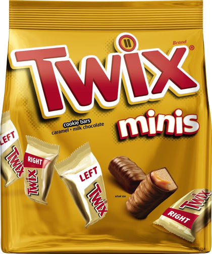 Twix Minis Caramel Chocolate Cookie Candy Bars, 9.7oz