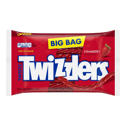 Twizzlers Twists Strawberry Licorice Candy Zipper Bag, 32oz