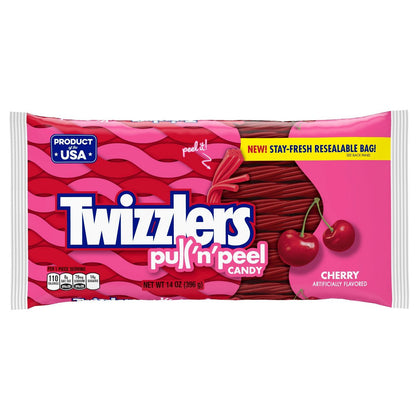 Twizzlers Pull-N-Peel Cherry Licorice Candy, 14oz