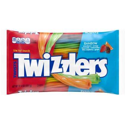 Twizzlers Rainbow Twists Straws, 12.4 oz