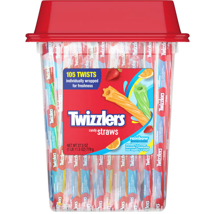 Twizzlers, Rainbow Twists Licorice Chewy Candy, 27.5 Oz