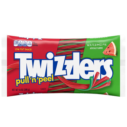 Twizzlers, Pull 'n' Peel Watermelon Chewy Candy, 14 Oz
