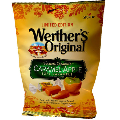 Werther's Originals, Harvest Caramels, Caramel Apple Soft Caramels, 2.22oz