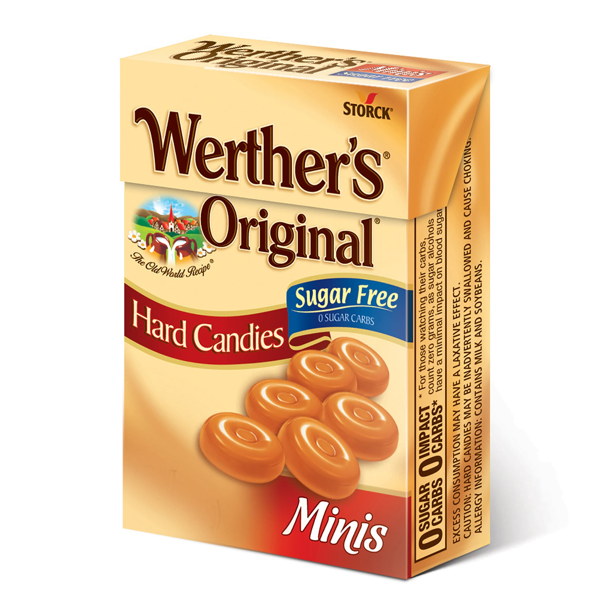 Werther's Original Mini Sugar Free Hard Candies, 1.48 oz