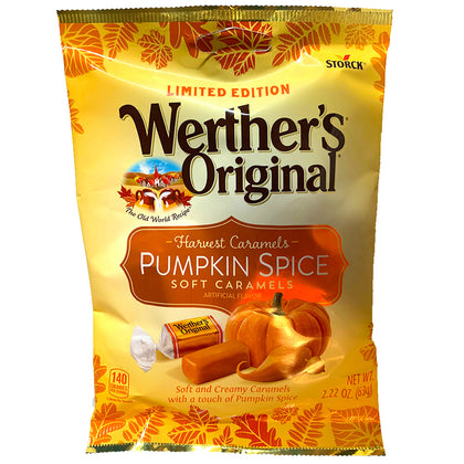 Werther's Originals, Harvest Caramels, Pumpkin Spice Soft Caramels, 2.22oz