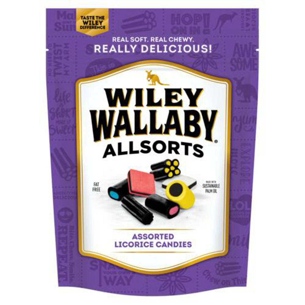 Wiley Wallaby Allsorts Assorted Licorice Candies, 8 oz