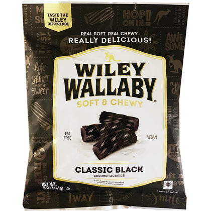 Wiley Wallaby Classic Black Gourmet Licorice, 5oz