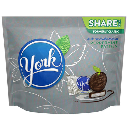 York Peppermint Patties Covered in Dark Chocolate, Share Pack, 10.1oz