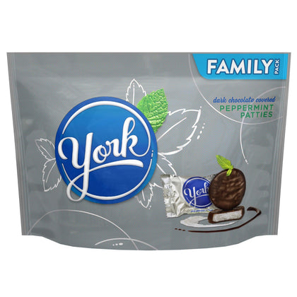 York Peppermint Patties Covered in Dark Chocolate, Family Pack, 17.3oz