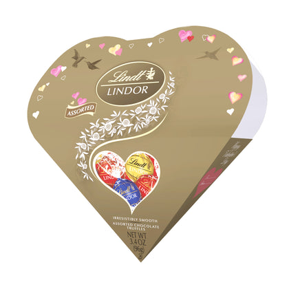 Lindt Lindor Valentine's Day Friendship Heart Classic Assortment Chocolate Truffles, 3.4oz