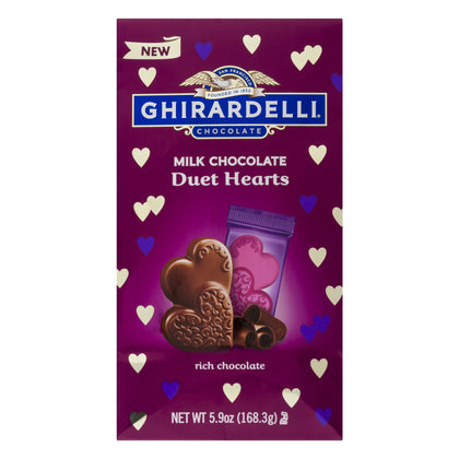 Ghirardelli Chocolate Milk Chocolate Duet Hearts, 5.9 Oz