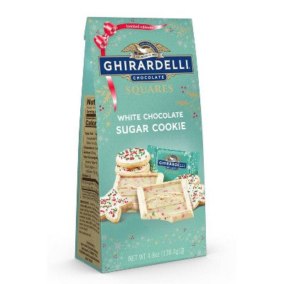 Ghirardelli White Chocolate Sugar Cookie Squares, 4.8oz