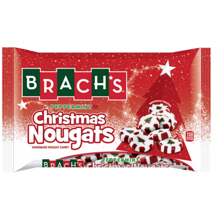 Brach's Christmas Peppermint Nougats, 8oz