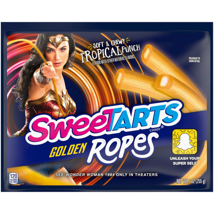 SweeTARTS Golden Ropes Tropical Punch Candy, 9 oz