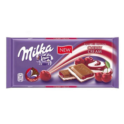 Milka Cherry Creme Bar, 3.5oz (Product of Poland)