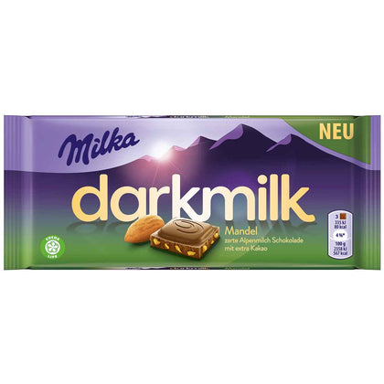 Milka Darkmilk Almond Bar, 3oz (Product of Germany)