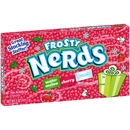 Frosty Nerds Holiday Sour Candy, 5oz Theater Box