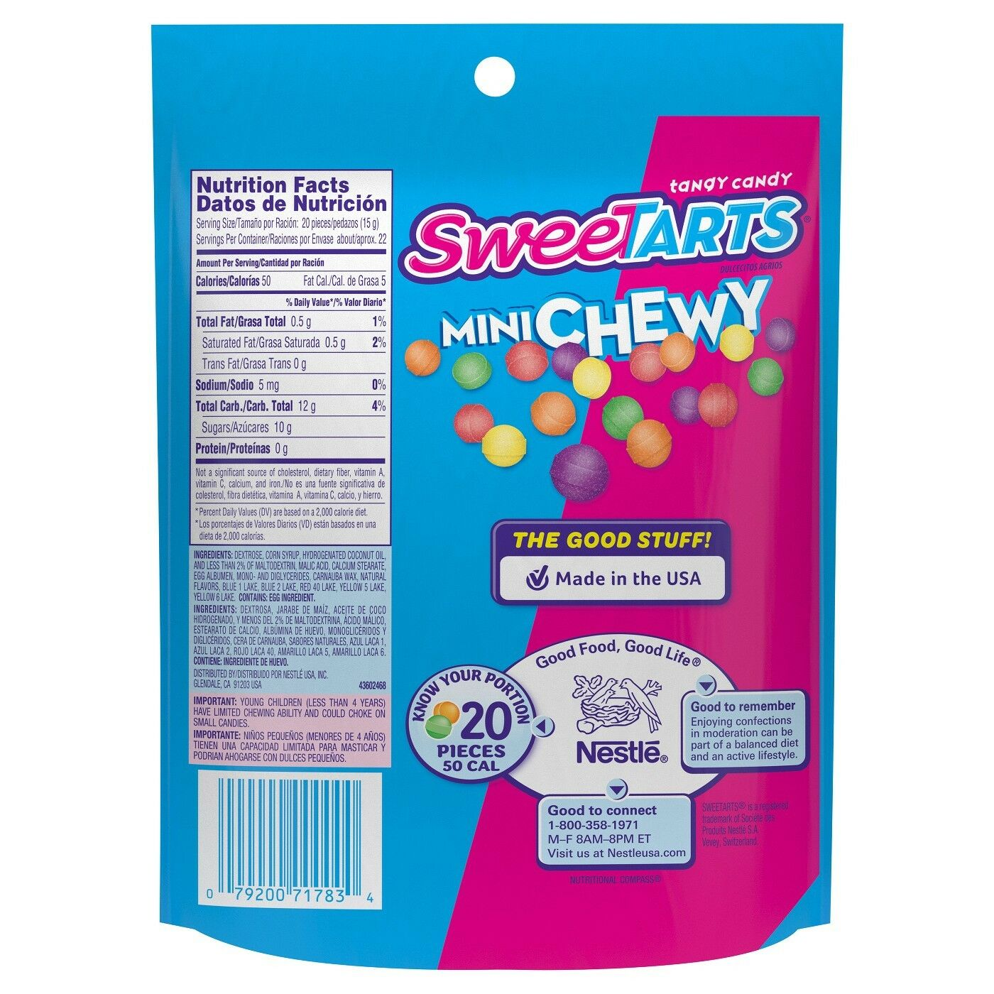 Sweetarts Mini Chewy, 12oz Bag