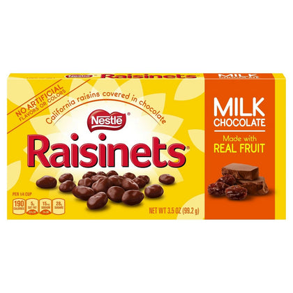 Raisinets California Raisins Covered in Milk Chocolate, 3.5oz Box