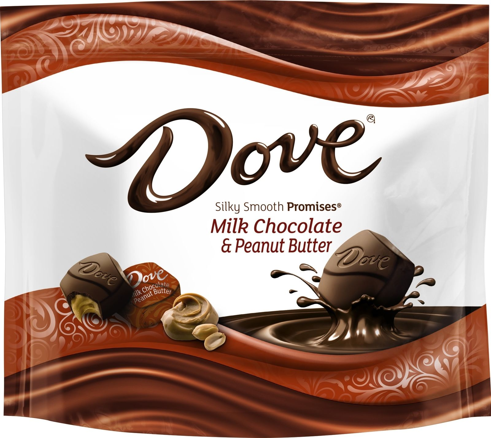Dove Milk Chocolate & Peanut Butter Silky Smooth Promises, 7.61oz Bag