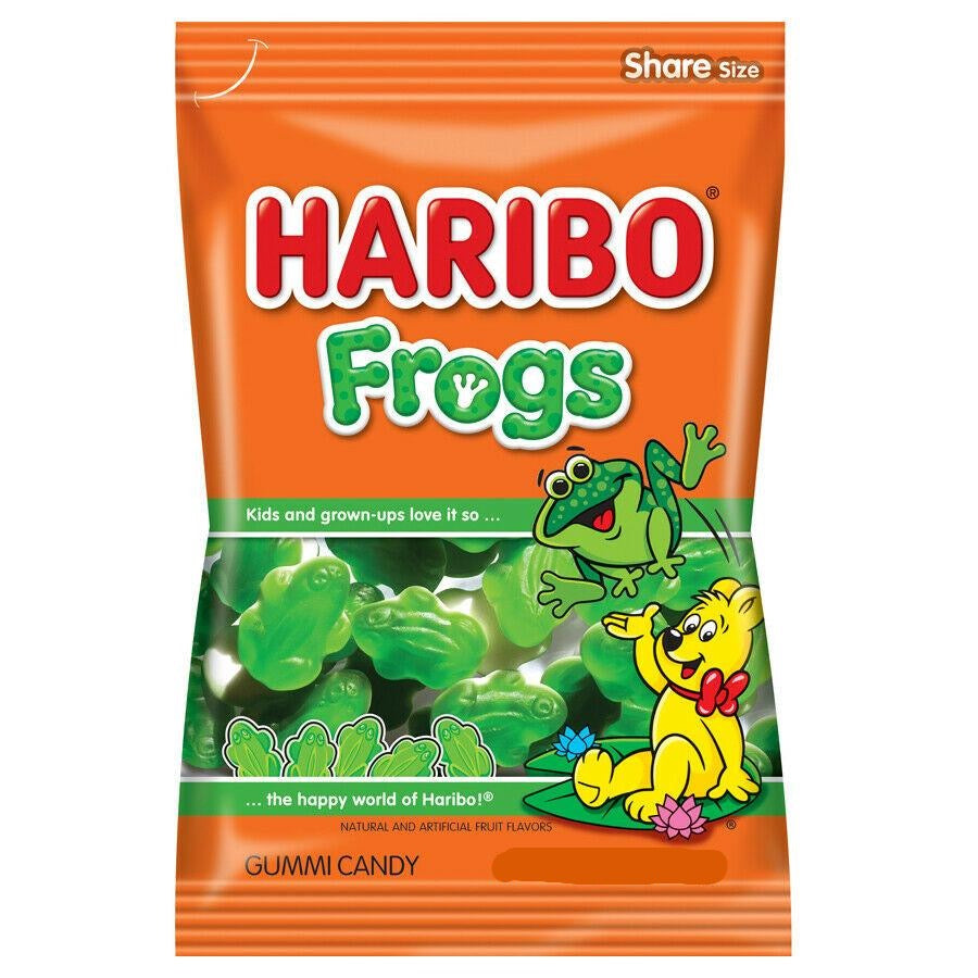 Haribo Frogs Gummi Candies, 4oz