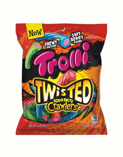 Trolli Twisted Sour Brite Crawlers, 3.4oz Bag