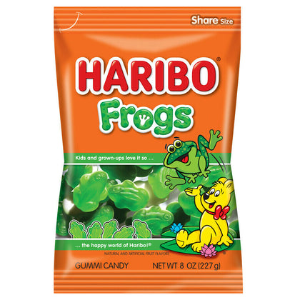 Haribo Frogs Gummi Candies, 8 Oz