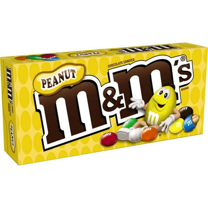 M&M's Peanut Chocolate Candies, Theater Box, 3.1oz