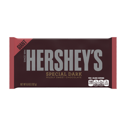 Giant Hershey's Special Dark Chocolate Bar, 6.8oz