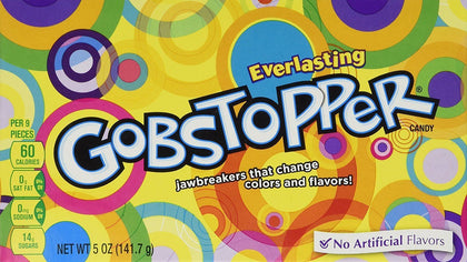 Everlasting Gobstopper Jawbreaker Candy, 5oz Box