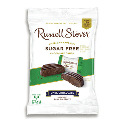 Russell Stover Sugar Free Dark Chocolate Medallions, 3 oz. Bag