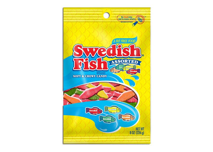 Swedish Fish Assorted Soft & Chewy Candy, 8oz Bag