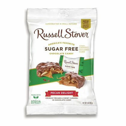 Russell Stover Pecan Delight Sugar Free, 3oz Bag